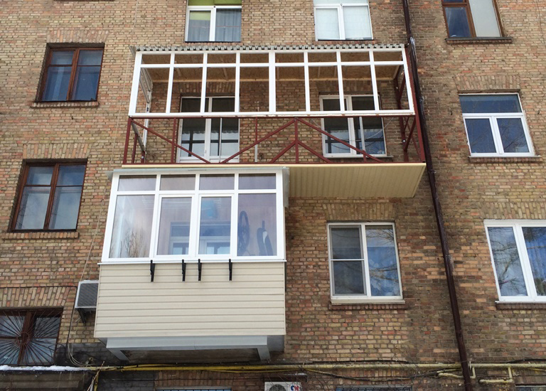 обшивка балкона профнастилом в житомире